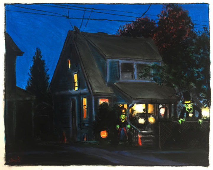 Treat House, Dusk by James Romberger