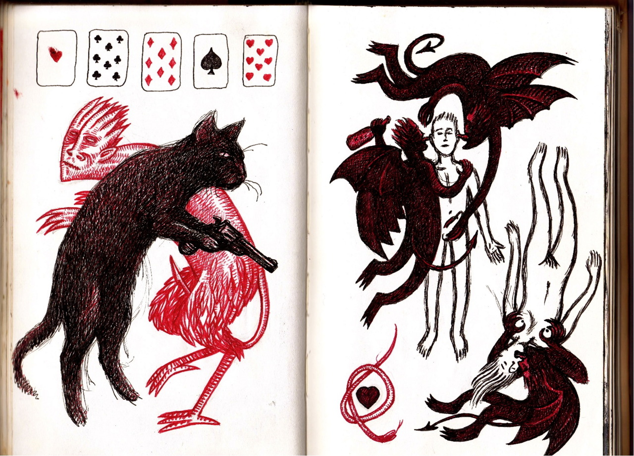 Sketchbook pages from Graham's Tumblr.