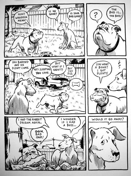 A page from Chaffee's forthcoming book, GOOD DOG.